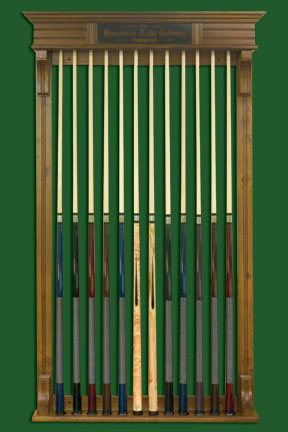 Antique Billiard Supply Early Wall Mounted Brunswick Cue Rack