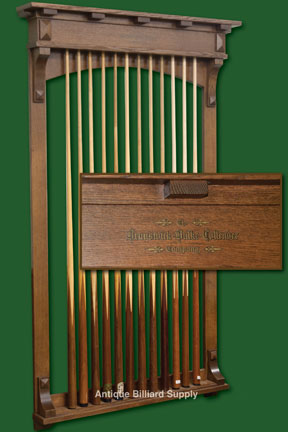 Brunswick Mission Style Cue Rack