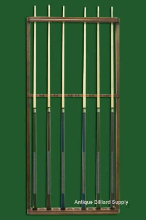Antique billiard supply antique brunswick pool cue rack for Cue rack plans