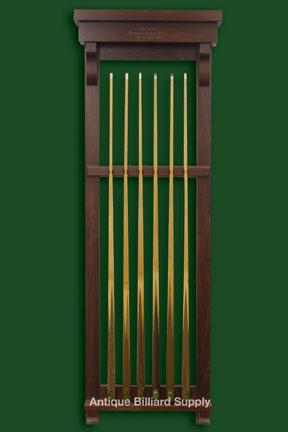 Antique billiard supply masculine primitive cue rack for Cue rack plans