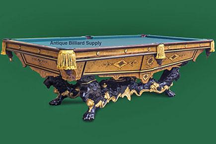 Antique Billiard Supply Brunswick Antique Pool Table Monarch Foot - Monarch pool table