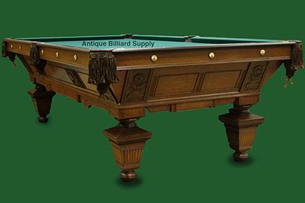 Antique Billiard Supply Victorian Table