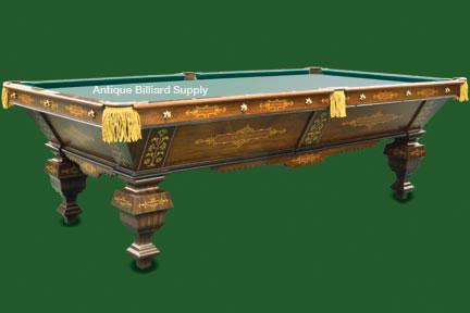 Period Game Room Furniture And Interior Design. #3 02 Exceptional Brunswick  Antique Pool Table ...