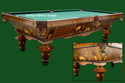 Period Game Room Furniture And Interior Design. #3 03 Very Early Antique  Pool Table By J. M. Brunswick ...